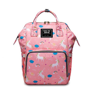 UNICORN PATTERN LARGE CAPACITY MUMMY BACKPACK/ DIAPER BAG