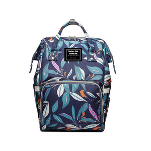 LEAF PATTERN LARGE CAPACITY MUMMY BACKPACK/ DIAPER BAG