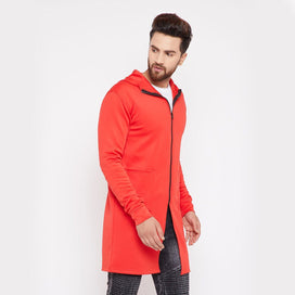 Red Neoprene Hooded Cape Shrugs - Fugazee