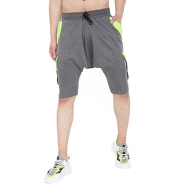 Charcoal Drop Crotch Cargo Shorts Shorts - Fugazee