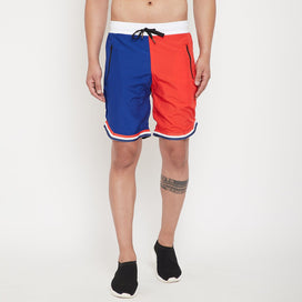 Red & Blue Active Basketball Shorts