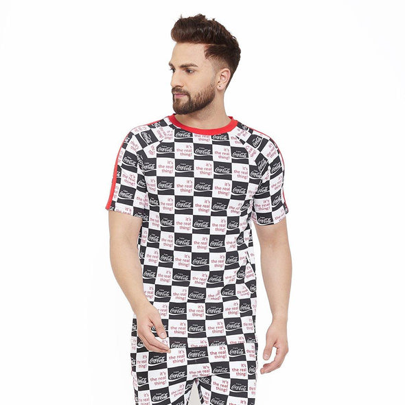 Cocacola Checkered Taped Tee