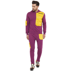 Lilac Yellow Patched Tracksuit
