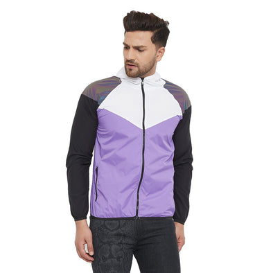 Plum Rainbow Reflective Wind cheater Jacket