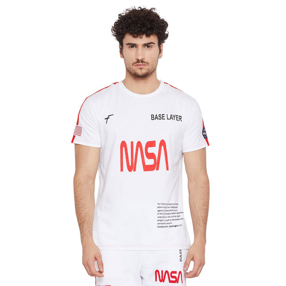 White Nasa Baser Layer Tee T-Shirts - Fugazee