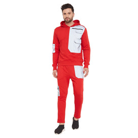 Red Nylon Reflective Patch Tracksuit
