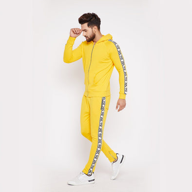 Lemon Checkered Taped Combo JogSuit Suits - Fugazee