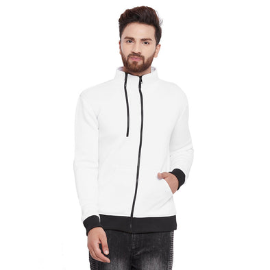 White Scuba Zipped Jacket OUTERWEAR - Fugazee