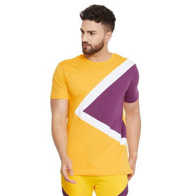 Purple On Lemon Cut & Sew T-shirt T-Shirts - Fugazee