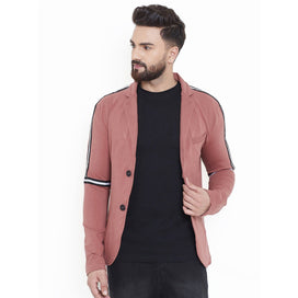 Rose Twill Taped Casual Blazer Jackets - Fugazee
