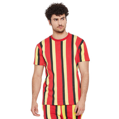 TriColour Vertical Striped Tee T-Shirts - Fugazee