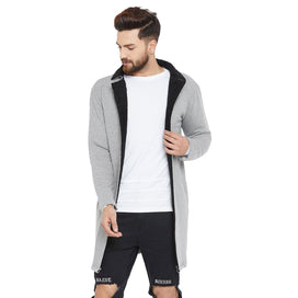 Grey Faux Fur Collar Shrug Shrugs - Fugazee