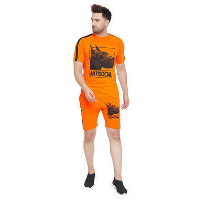 Anti Social Taped Tee and Shorts Combo Suit