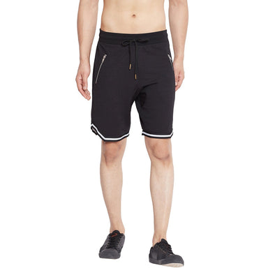 Black Mesh Taped Shorts Shorts - Fugazee