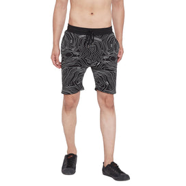 Black Topography Shorts Shorts - Fugazee