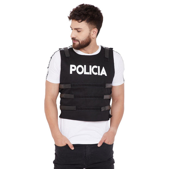 Black Policia Tactical Jacket Jackets - Fugazee