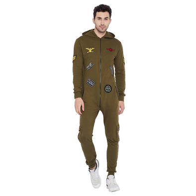 Army Patched Onesie Suits - Fugazee