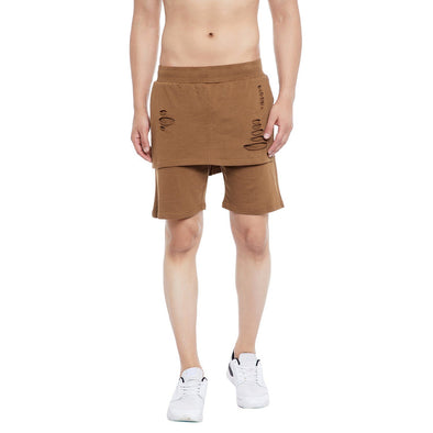 Earth Layered Shorts Shorts - Fugazee