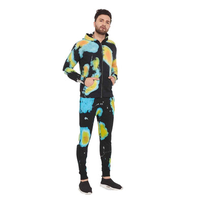 Heat Map Over Dyed Sweatshirt and Joggers Combo Tracksuit