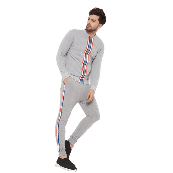 Heather Grey Taped Tracksuit