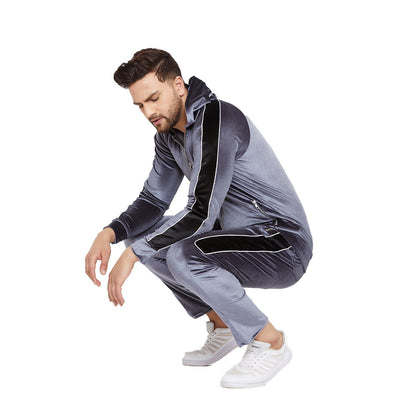 Midnight Blue Taped Velour Tracksuit