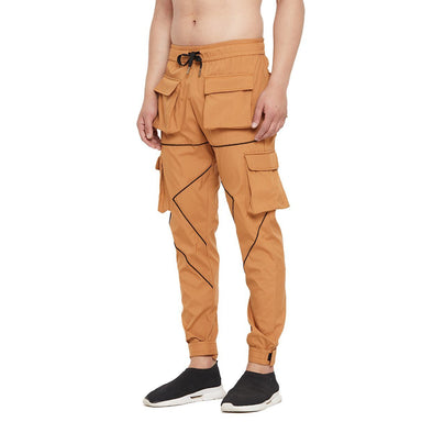 Camel Nylon Cargo Pocket Trackpant