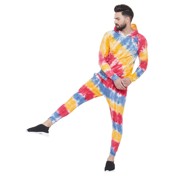 Tie & Dye Multicolored Sweatshirt and Joggers Combo Suit