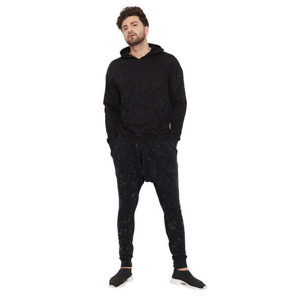 Acid Relaxed Fit Sweatshirt and Joggers Combo Tracksuit
