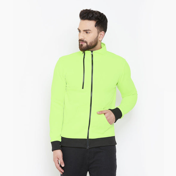 Neon Zipped Scuba Jacket Jackets - Fugazee