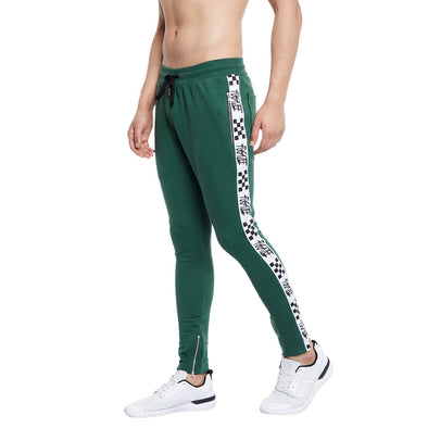 Green  Stripped Zipped SweatPants