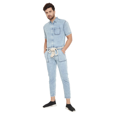 Denim Washed Jumpsuit