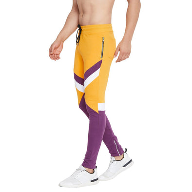 Purple On Lemon Cut & Sew Sweatpants Joggers - Fugazee