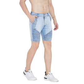 Ice Washed Biker Shorts Shorts - Fugazee
