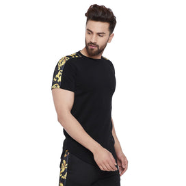 Black Venetian Taped Tee T-Shirts - Fugazee