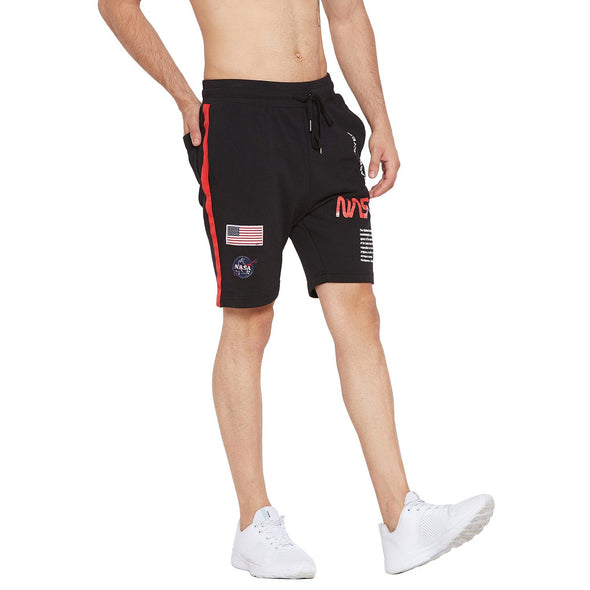 Black NASA Base Layer Shorts Shorts - Fugazee