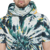 Olive Tie and Dye Tshirt with Ribbed Face Cover