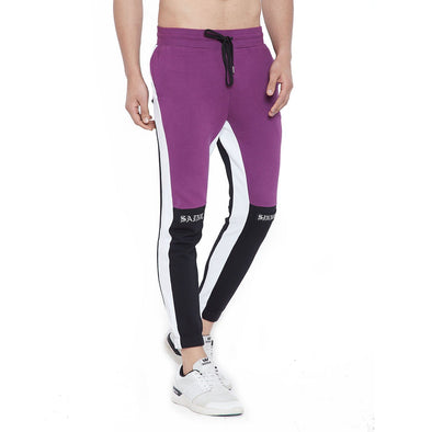 Lilac Saint Sinner Patched Sweatpants Joggers - Fugazee