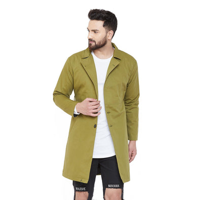 Olive Lightweight Trench Coat Jackets - Fugazee