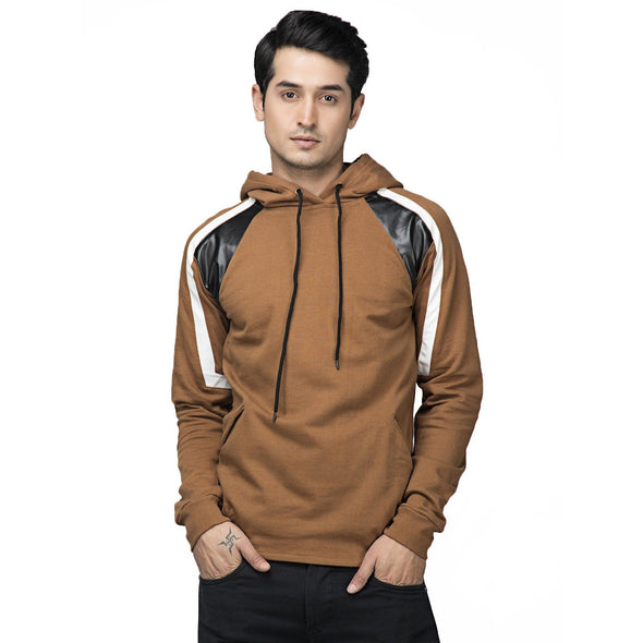 Earth Faux Leather Hoodie Sweatshirts - Fugazee