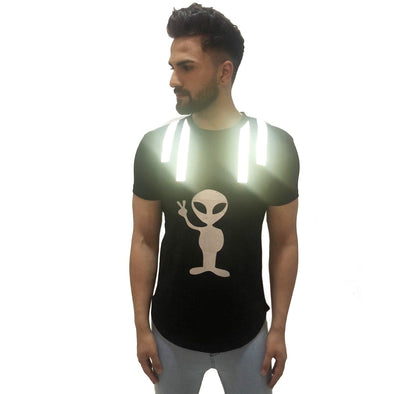 Black Reflective Alien Tshirt