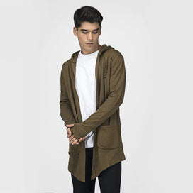 Military Green Distressed Cape Shrugs - Fugazee