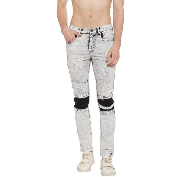 White Wash Denim Jeans - Fugazee