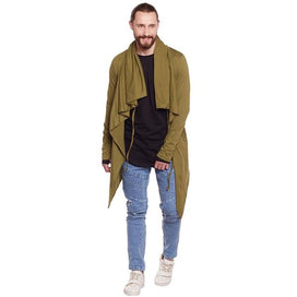 Khaki Waterfall Shrug Shrugs - Fugazee