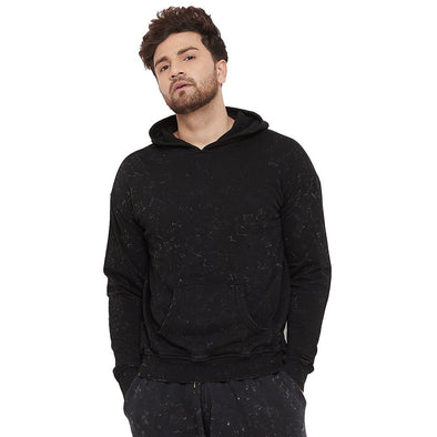 Acid Drop Shoulder Hooded Sweatshirt