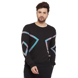 Black Rainbow Reflective Taped Sweatshirt