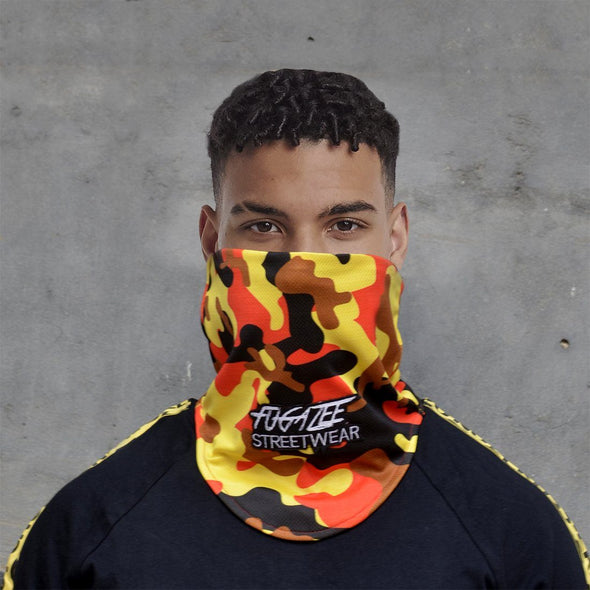 Yellow Camo Face Cover