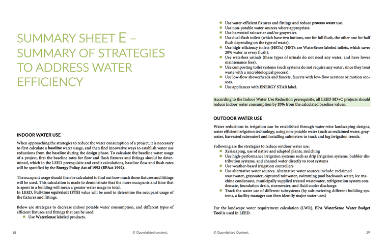 LEED Green Associate V4 Exam Study Sheets | LEED GA Study Sheets 3
