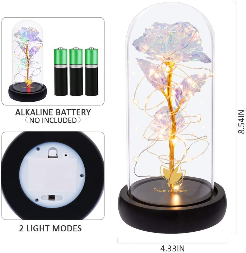 Galaxy Rose LED Fairy Lamp