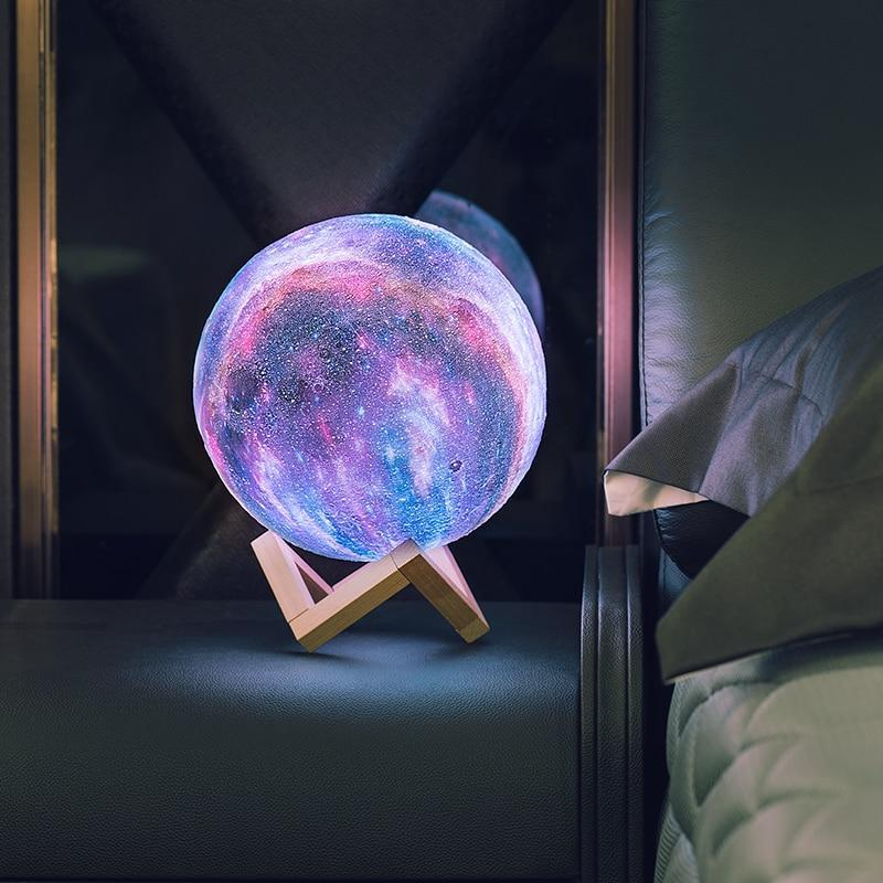 Hypnotizing Moon Light With Wood Stand