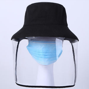 Anti-Saliva Full Face Unisex Protective Hat With Detachable Shield